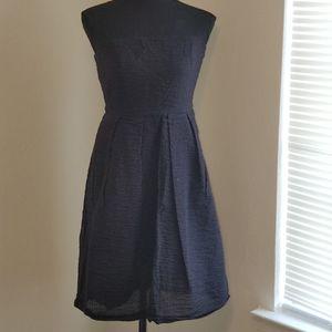 J Crew size 6 black strapless dress